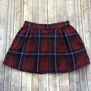 Old Navy Red Blue Plaid Skirt Size Small Tartan